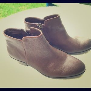 Sam Edelman Petty brown leather booties